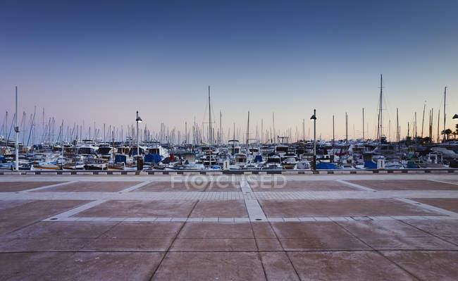 Vista de Marina, Costa Azul, Cannes, Francia - foto de stock