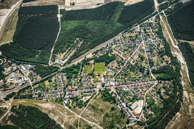 Vista del paisaje suburbano - foto de stock