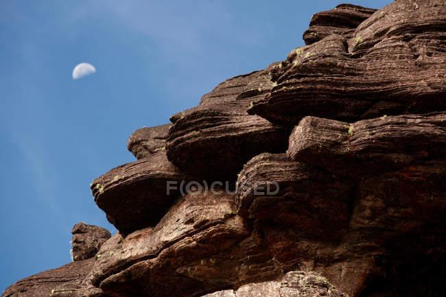 Superfície de rocha erodidos vento do Monte Roraima — Fotografia de Stock