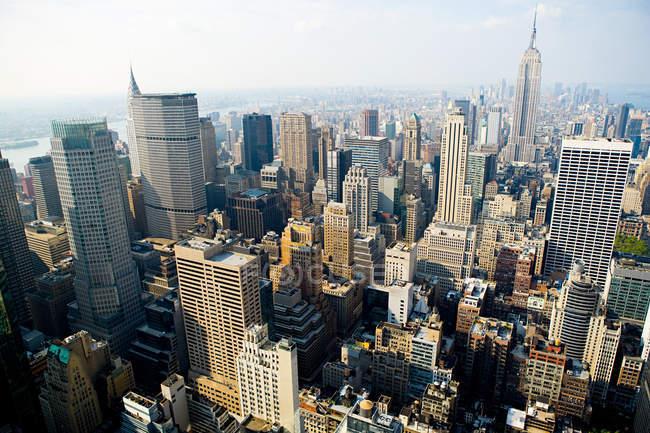 New York cityscape in bright sunlight — Stock Photo