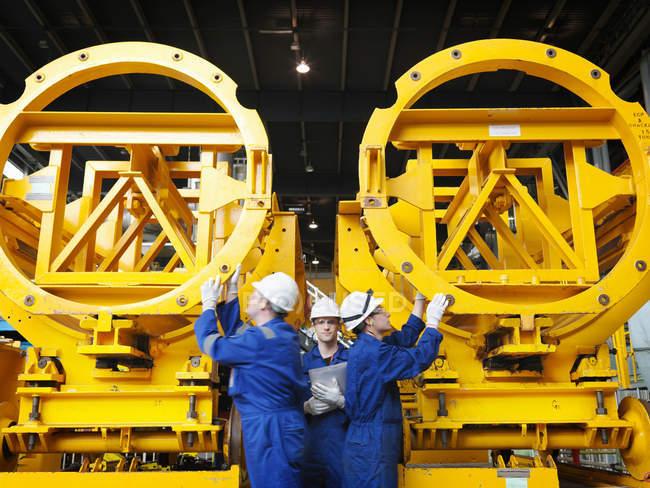 Engineer in Turbine Hall — Stock Photo