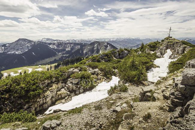 Vue du Mt Wallberg, Bavière, Allemagne — Photo de stock