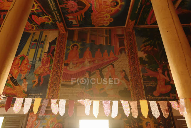 Buddha story temple paintings — Stock Photo