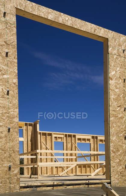 Wohn-Ferienhaus Stil Haus im Bau — Stockfoto
