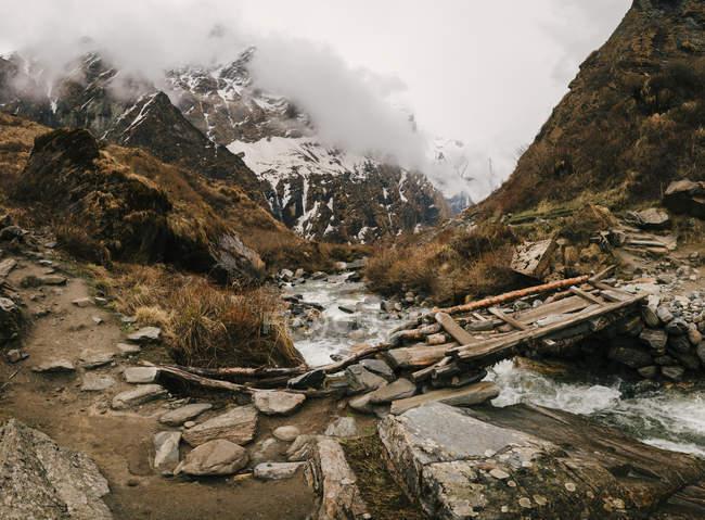 Chomrong Village Area, trek Abc (Annapurna Base Camp trek), Nepal — Foto stock