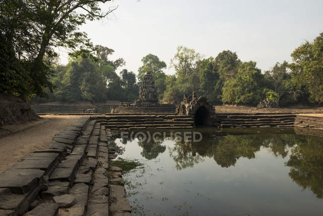 Temple of Neak Pean, Angkor, Siem Reap, Cambodia, Indochina, Asia — Stock Photo