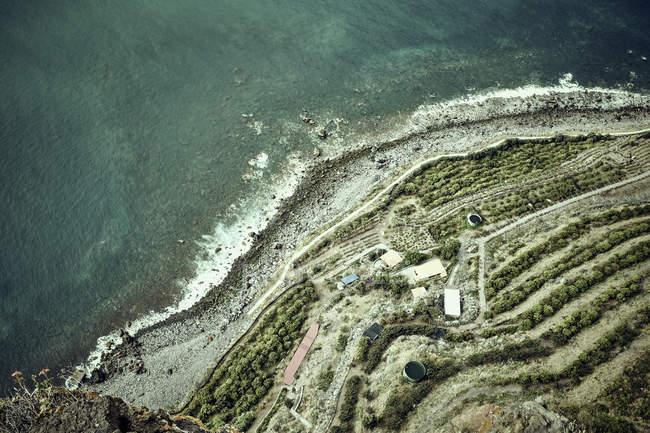 Vista aérea da costa, Madeira, Cabo Girao, Portugal — Fotografia de Stock