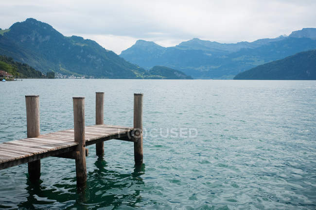Pier at Lake Lucerne — Stock Photo