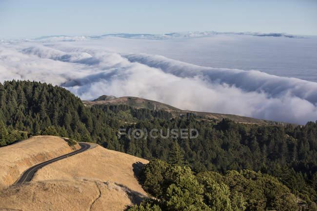 Erhöhter Blick auf das Mühlental, Kalifornien, USA — Stockfoto