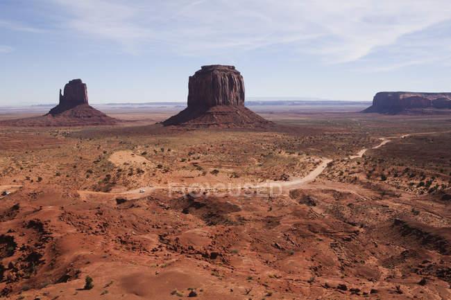 Monument Valley Tribal Park rock formations, Navajo, Arizona, EUA — Fotografia de Stock