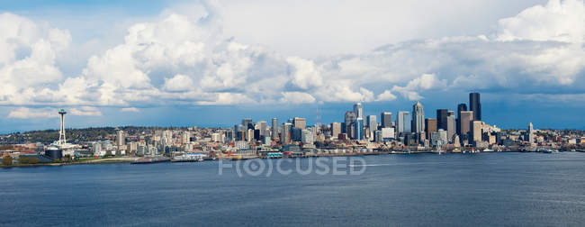 Panoramic aerial view of Seattle — Stock Photo