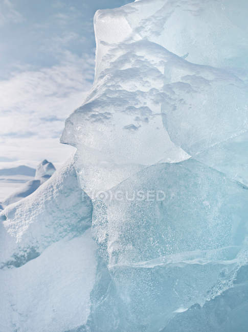 Glacial ice close up — Stock Photo