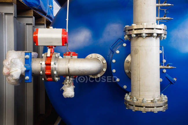Part of a machine at factory — Stock Photo