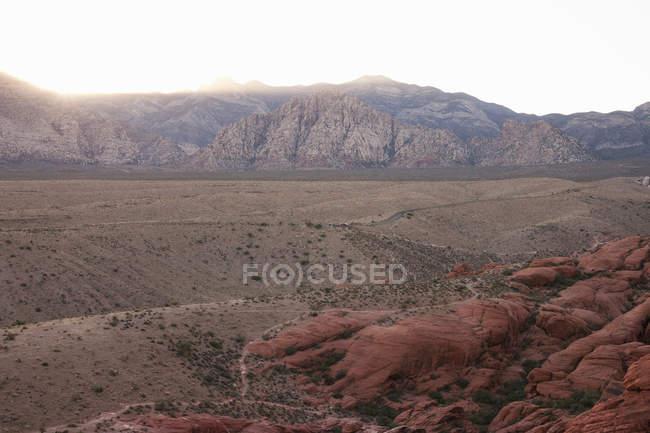 Красный Рок Каньон на закат, Невада, США — стоковое фото