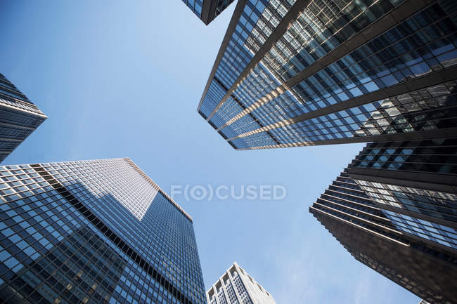 Skyscrapers with blue sky — Stock Photo