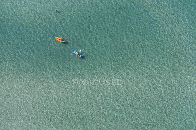 Vista aérea de dois caiaques de mar, Melbourne, Victoria, Austrália — Fotografia de Stock