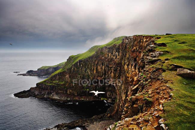 Sheer rock cliffs on coastline — Stock Photo