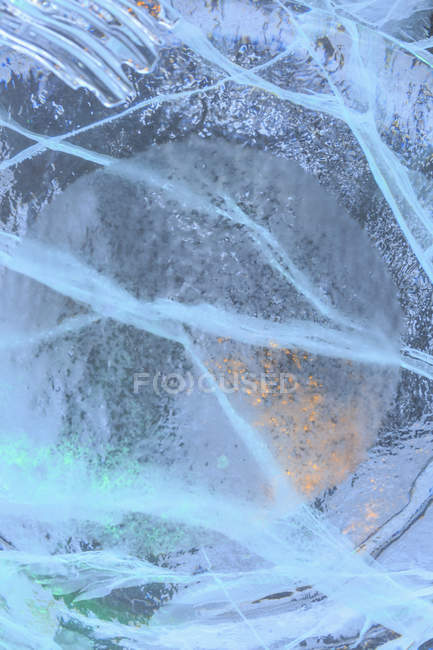 Close up shot of ice floe texture — Stock Photo