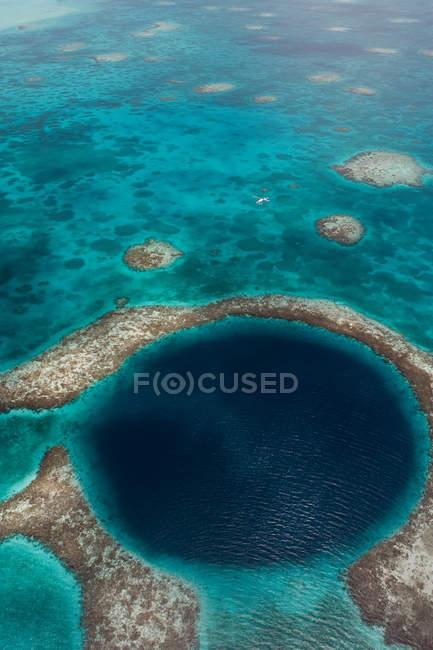 Trou bleu du Belize — Photo de stock