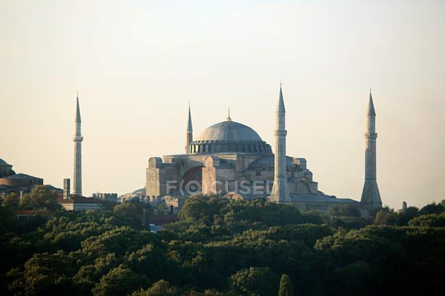 Vista distante de Istambul de Mesquita do sultão ahmed — Fotografia de Stock
