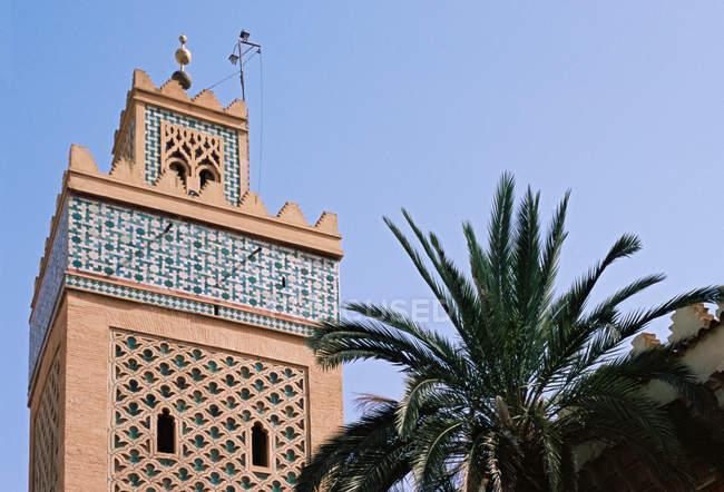 Vista da Mesquita Koutoubia — Fotografia de Stock