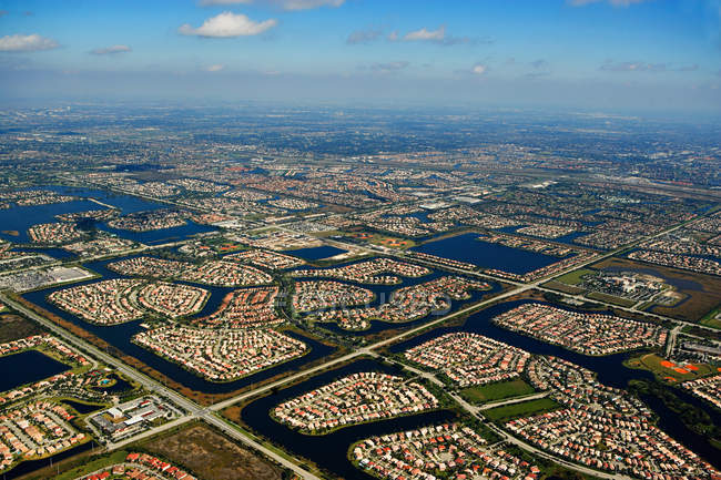 View of houses on florida east coast — Stock Photo