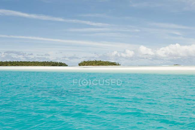 Vista panoramica dell'isola nell'Oceano Pacifico meridionale — Foto stock