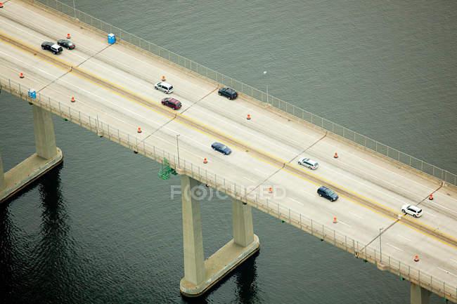 Дорожный мост через залив Наррагансетт — стоковое фото