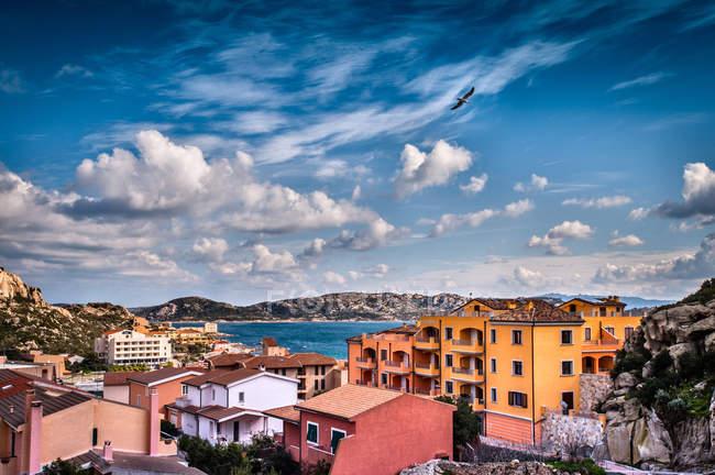 Rooftops of La Maddalena town, Sardinia, Italy — Stock Photo