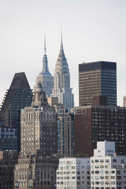 Вид з Нью-Йорка хмарочосів, Сполучені Штати Америки — стокове фото