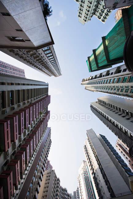 Vista della costruzione di appartamento — Foto stock