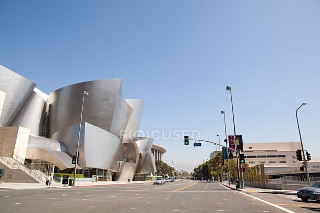 Downtown LA looking towards Disney Concert Hall, Los Angeles County, California, USA — Stock Photo