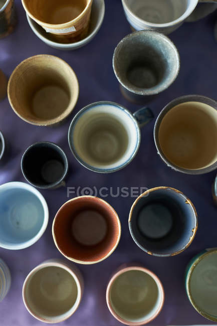 Large group of traditional Japanese ceramics — Stock Photo