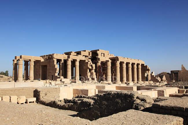 Далеких подання Ramesseum храм, Єгипет — стокове фото