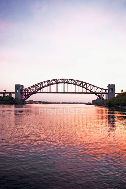 Hell gate bridge new york — Stock Photo