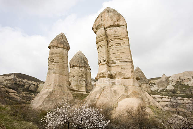 Camino rocce cappadocia — Foto stock