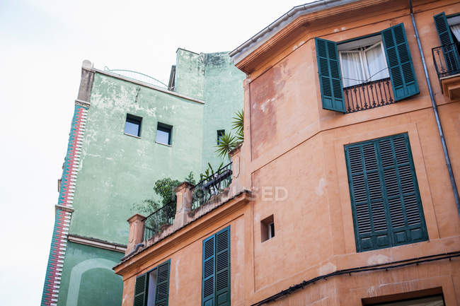 Shutters on urban building — Stock Photo