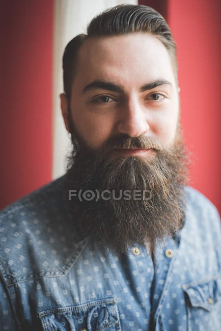 Portrait of young bearded man — Stock Photo