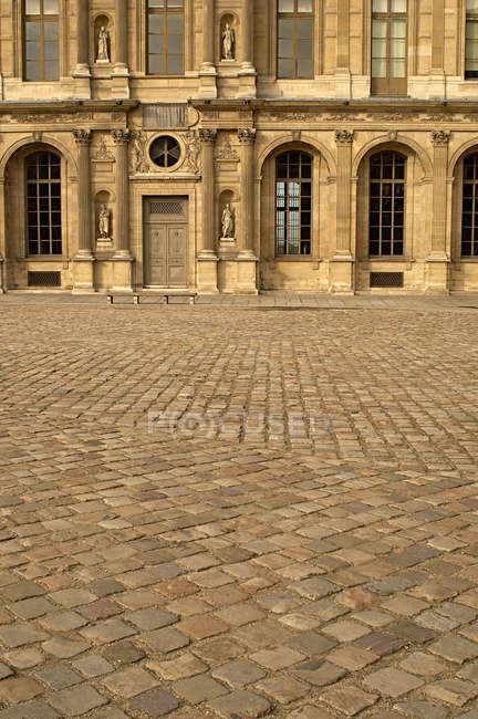 Pavement at louvre courtyard — Stock Photo