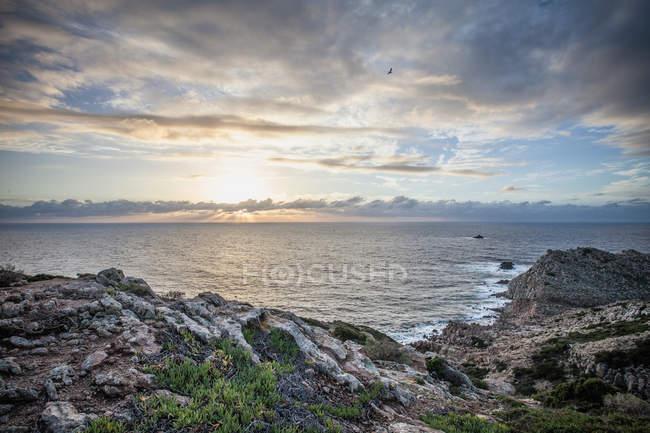 Coastal scene of Cagliari, Sardinia, Italy — Stock Photo
