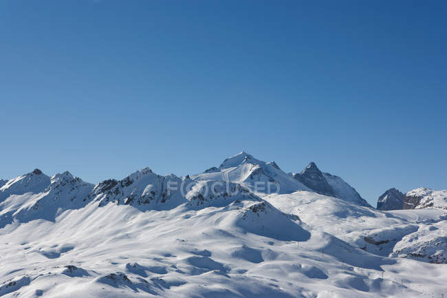 Вид на пейзаж гор — стоковое фото
