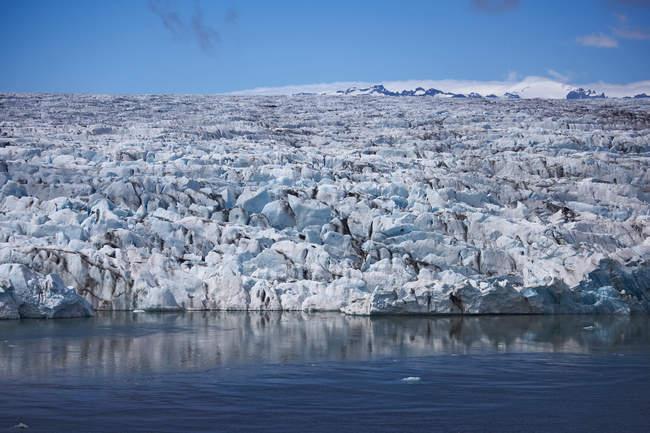 Erhöhten Blick auf den Breidamerkurjoull Gletscher, South East Island — Stockfoto
