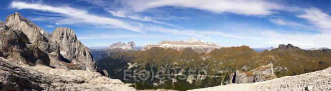 Sella chaîne de montagnes — Photo de stock