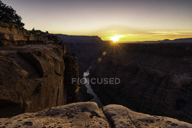 Vue de Torroweap surplombant Littlefield, Arizona, USA — Photo de stock