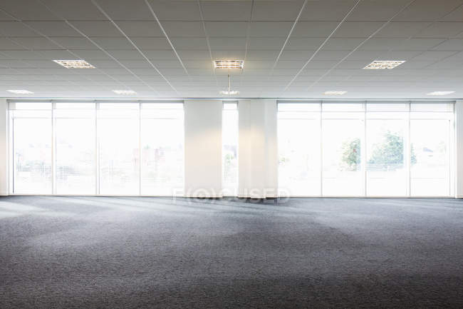 Front view of empty office interior — Stock Photo