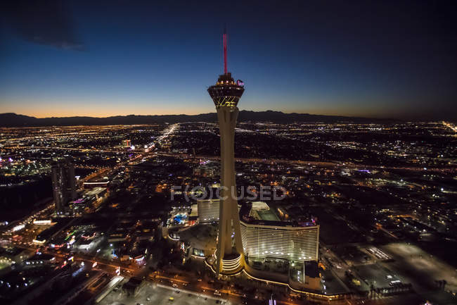 Stratosphere Casino Hotel and tower, Las Vegas, Nevada, Stati Uniti — Foto stock