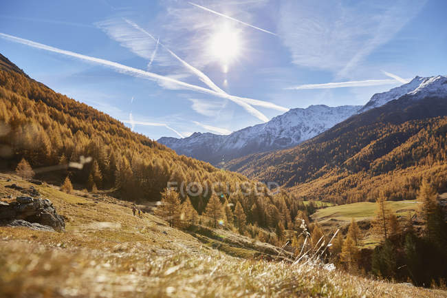 Scenic view of mountain landscape, Schnalstal, South Tyrol, Italy — Stock Photo