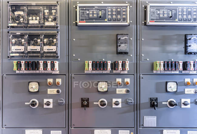 Detail of interior of electricity substation — Stock Photo