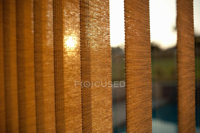 Close up of Window blinds at sunset — Stock Photo