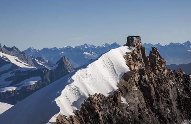 Snow covered mountain peaks, Monte Rosa Piedmont, Italy — Stock Photo